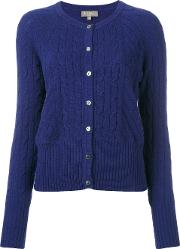 Npeal , N.peal Cashmere Cropped Cable Cardigan Women Cashmere L, Blue
