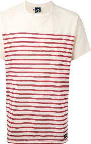 Bleu De Paname , Striped T Shirt Men Cotton M, Nudeneutrals