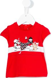 Little Marc Jacobs , Printed T Shirt Kids Cottonmodal 36 Mth, Toddler Girl's, Red