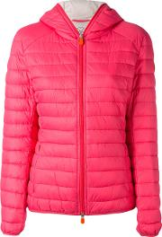 Save The Duck , Hooded Puffer Jacket Women Nylonpolyester 4, Pinkpurple