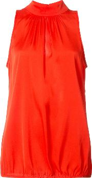 Trina Turk , High Neck Blouse Women Silkspandexelastane Xs, Women's, Red