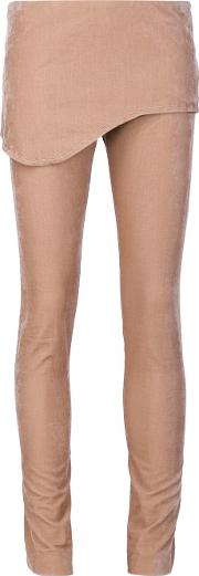 Vivienne Westwood Red Label , Skirted Velvet Trousers Women Cottonspandexelastaneviscose 44, Brown