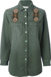 Sandrine Rose , Embroidered Shirt Women Cotton Xs, Green
