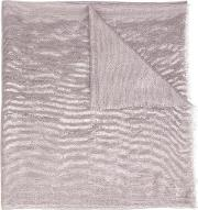 Denis Colomb , 'evening Nacre' Large Shawl Women Cashmere One Size, Grey