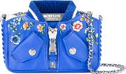 Moschino , Bomber Jacket Shoulder Bag Women Cottoncalf Leather One Size, Blue