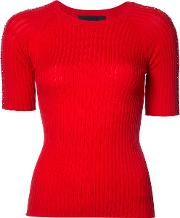 Co , Piercing Ring Ribbed Top Women Tton M, Women's, Red