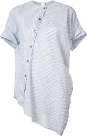 Forme Dexpression , Forme D'expression Asymmetric Oval Shirt Women Silkcotton M, Blue