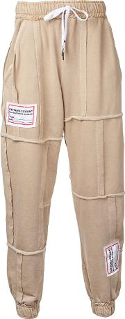 Liam Hodges , Open Seam Drawstring Trousers Men Cotton S, Brown