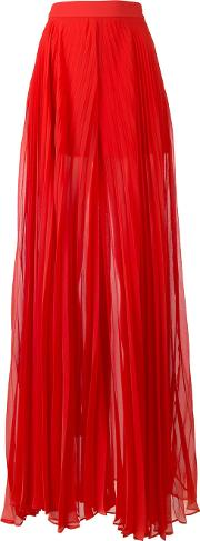 Elie Saab , Pleated Wide Palazzo Pants Women Polyester 40, Red
