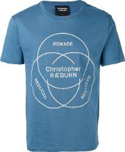 Christopher Raeburn , Ethos Print T Shirt Men Cotton S, Blue
