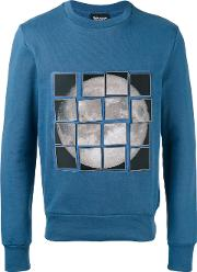 Christopher Raeburn , Stick On Moon Patch Sweatshirt Men Cottonpolyamide L, Blue