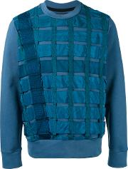 Christopher Raeburn , 'remade Airbrake' Sweatshirt Men Cottonnylon L, Blue
