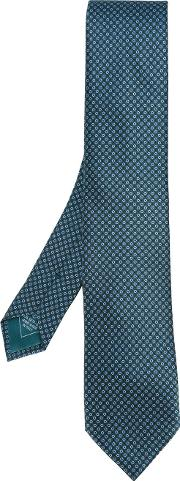 Brioni , Spotted Tie Men Silk One Size, Green