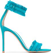 Gianvito Rossi , Caribe 10.5 Sandals Women Calf Leatherleather 38.5, Blue