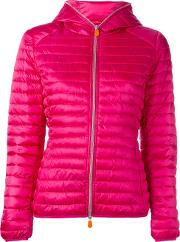 Save The Duck , Hooded Puffer Jacket Women Nylonpolyester 1, Women's, Pinkpurple