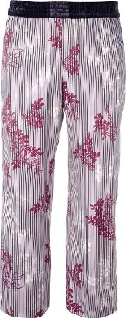 Forte Forte , Floral Stripe Cropped Trousers Women Cuproviscose 0