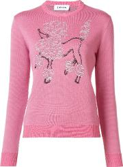 Jimi Roos , Poodle Embroidered Jumper Women Cottonvirgin Wool M, Women's, Pinkpurple