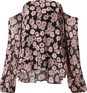 Milly , Floral Print Off Shoulder Blouse Women Silknylonpolyesteracetate 2