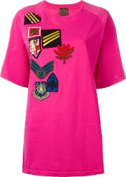 Mr & Mrs Italy , Multipatch T Shirt Women Cotton 38