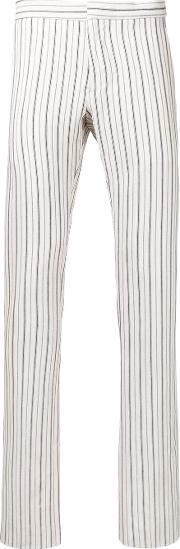 Andrea Pompilio , Striped Skinny Trousers Men Cottonviscose 46, Nudeneutrals