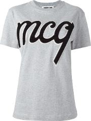 Mcq Alexander Mcqueen , Logo Patch T Shirt Women Cotton M, Grey