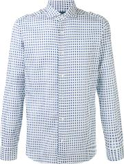 Barba , Checked Shirt Men Cotton 42, Blue