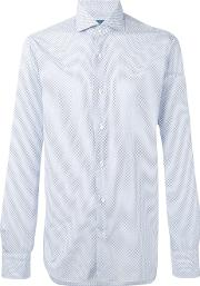Barba , Patterned Shirt Men Cotton 43, White