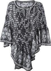 Cecilia Prado , Knit Poncho Women Acryliccotton One Size, Black
