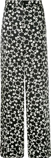 Duro Olowu , Printed Trousers Women Silk 12, Black