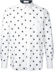 Education From Youngmachines , Stars Print Shirt Men Cotton 1, White