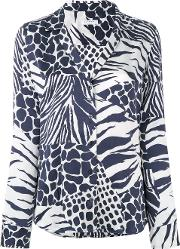 Equipment , Adalyn Printed Shirt Women Silk M, Blue