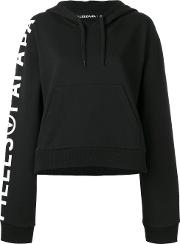 Filles A Papa , Logo Print Tiger Hoodie Women Cotton 0, Black