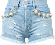 Forte Couture , California Pearl Shorts Women Cottonpearlsbrass 29, Blue