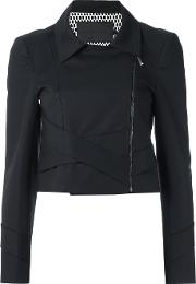 Giuliana Romanno , Panelled Jacket Women Cottonelastodiene 38, Black