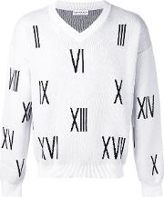 Gosha Rubchinskiy , V Neck Numbers Sweater Men Cotton M