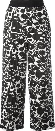 Im Isola Marras , I'm Isola Marras Floral Print Cropped Trousers Women Polyesterspandexelastaneacetateviscose 42, Black