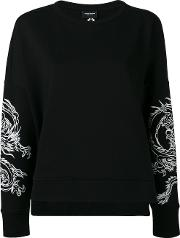 Marcelo Burlon County Of Milan , Printed Sweatshirt Women Cottonpolyester M, Women's, Black