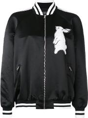 Markus Lupfer , Sequin Rabbit Bomber Jacket Women Silkpolyesterviscoseglass S, Black