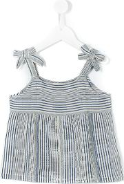 Nice Things Mini , Striped Top Kids Cottonviscoselinenflax 10 Yrs, Blue