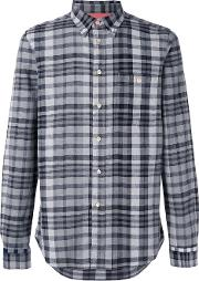 Paul By Paul Smith , Checked Shirt Men Cottonlinenflax Xl, Black