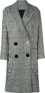 Petar Petrov , Checked Double Breasted Coat Women Woolcupro 38, Black