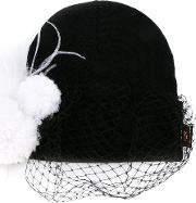 Piers Atkinson , Feathered Veil Beanie Women Acrylicpolyesterwoolother Fibers One Size, Women's, Black