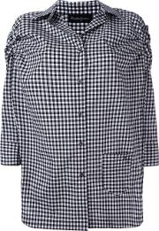 Rossella Jardini , Checked Shirt Women Cotton 44, Black