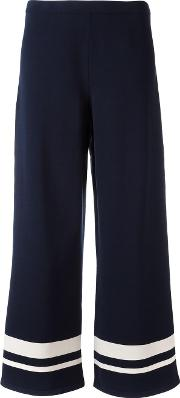 S Max Mara , ' Wide Legged Striped Trousers Women Polyesterviscose L, Blue