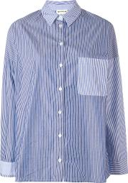 Semicouture , Striped Shirt Women Cotton 40, Blue