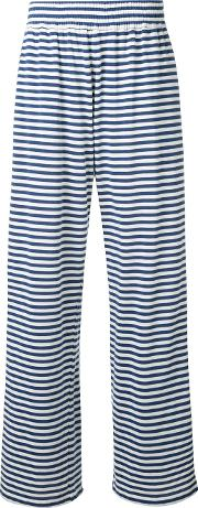The Seafarer , Striped Wide Leg Sweatpants Women Cotton Xs, Blue