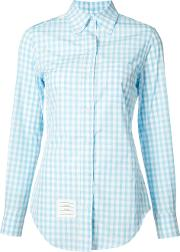 Thom Browne , Embroidered Shirt Women Cotton 40, Blue