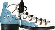 Toga Pulla , Embellished Lace Up Sandals Women Leathermetal 38
