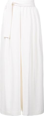 Tome , Wide Legged Cropped Trousers Women Silk M