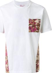 White Mountaineering , T Shirt With Contrasting Printed Panels Men Cottonlinenflaxrayon 3